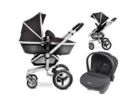Silver cross surf pushchair, carry cot & car seat