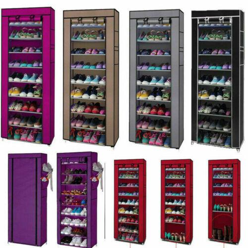 10 Layer 9 Grid Shoe Rack Storage Cabinet Shelf Closet Organ
