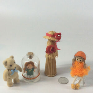 Vintage Miniature Doll in a Bottle and other Toys/Dolls