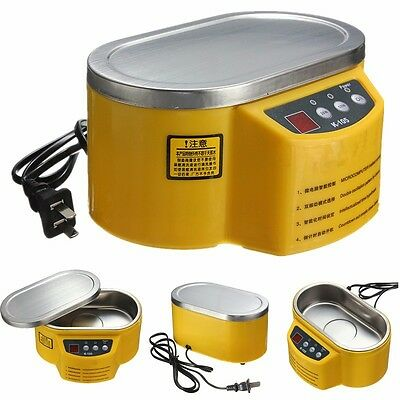 220v Stainless Steel Ultrasonic Cleaner Jewelry Glasses Circuit Board Watch Cd