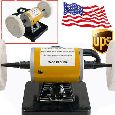 Usa-3000 Rpm 260w Dental Mini Polishing Machine Lathe Polisher Motor Bench Top