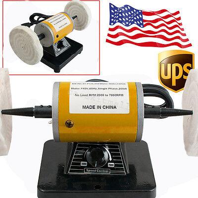 Usa-3000 Rpm 260w Dental Mini Polishing Machine Lathe Polisher Motor Bench Top
