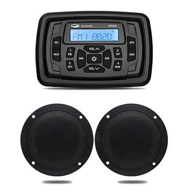 Marine Stereo Bluetooth-modtagerbåd FM AM-radio og vandtætte IP66-højttalere