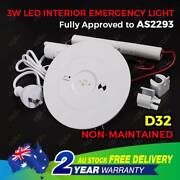 3W LED Emergency Luminaire Round Spitfire Ceiling Down Light North Melbourne Melbourne City Preview