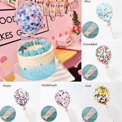 Wedding Birthday Party Balloon Cake Topper Cake Insert Latex Party Decor (Balloon Cake Topper)