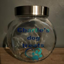 Glass treat jar (personalised)