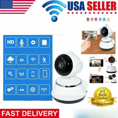720P Wireless WIFI Pan Tilt Security IP Camera IR Night Home Webcam Baby Monitor