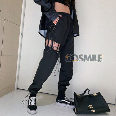 Blackpink Lisa K-pop Cosplay Casual Jazz Hip-Hop Cargo Pants GirlCrush - Pop Jazz Kostüm