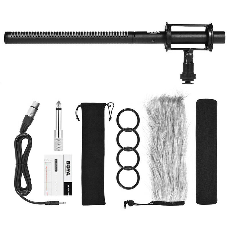 BOYA BY-PVM1000 Professional Shotgun Microphone Super-Cardioid 2 Step Filter