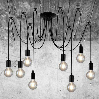 Industrie Vintage Lampe Retro Deckenlampe Pendelleuchte Kronleuchter E27 Edison (Edison Lampe Leuchte)