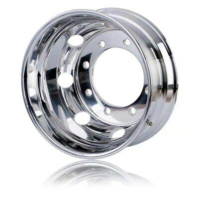 "19.5x7.5"" Aluminum Truck Wheel Rims Alcoa Style 8x275mm Polished Inside Fit Rear"