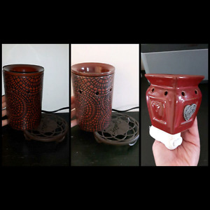 """Cobbled Leather"" scentsy warmer and ""Heartfelt"" scentsy wall pl"