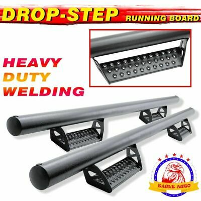 "Fit 01-16 Chevy Silverado Crew Cab 3"" Nerf Bar Running Board Side Step BCT HOOP"