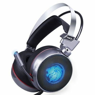 Computer Gamer N43 Stereo Headset 7.1 Virtual Surround Bass Earphone Headphone