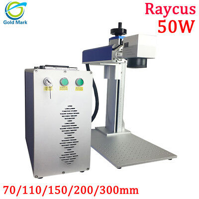 Raycus 50w Fiber Laser Marking Machine With Rotary Axis Attachment Metal Engrave