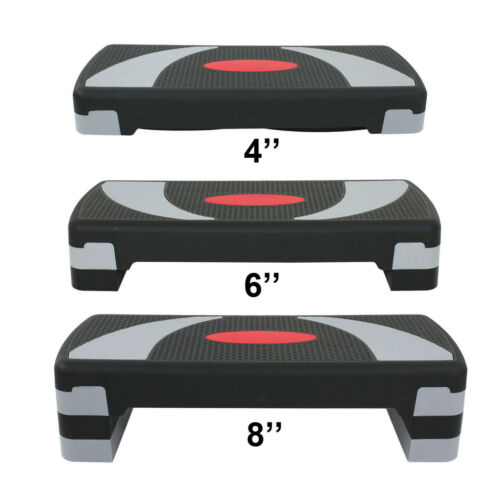 """Fitness Aerobic Step 30"""" Club Cardio Adjust Exercise Stepper w/Risers 4"""" – 8"""" Fitness Equipment & Gear"""