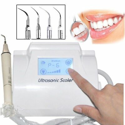 Dental Ultrasonic Piezo Scaler Lcd Touch Screen 4detachable Handpiece Fit Ems