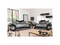 3+2 seater sofa with free pouffe brand new