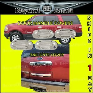 2003-2010 Ford Expedition Chrome Door Handle Covers +Lower Tailgate Cover