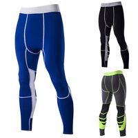 Hombre Térmico Compresión Fitness Largo Deporte Atletismo Pantalones Medias -  - ebay.es