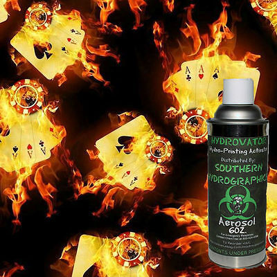 Hydrographic Film Water Transfer Hydro Dip 6oz. Activator Flaming Aces Dip Kit