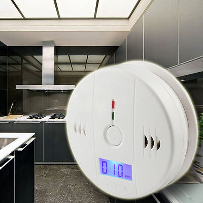 LCD CO Carbon Monoxide Detector Poisoning Gas Warning Sensor Monitor Smoke Alarm