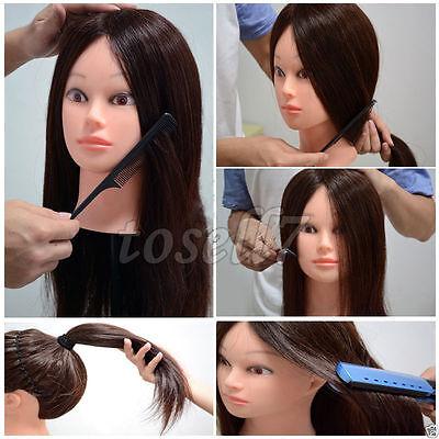 100% Real Hair Hairdressing Salon Practice Training Head ...