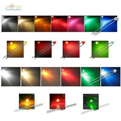 LED 1,8mm versch. Typen & Farben klar & diffus, Miniatur Mini LEDs Leuchtdioden - 8 Mm Led