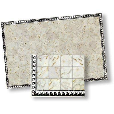 Dollhouse Miniature White Faux Marble Floor Tile