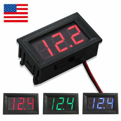 Mini 12v 24v Voltmeter Led Panel Digital Display Voltage Meter For Car Motor