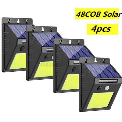 4x 48LED Solar Power Light PIR Motion Sensor Security Outdoo