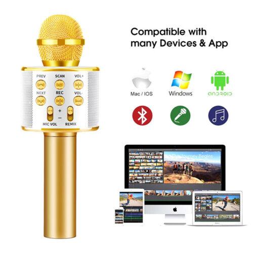 Handheld KTV Microphone Wireless Bluetooth Karaoke Home Mic