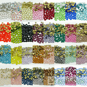 10Gross-1440Pcs-Top-Quality-Czech-Crystal-Rhinestones-Flatback-Non-Hotfix-Pick
