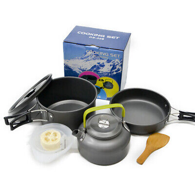 Camping Cookware Mess Kit Cook Set Camp Kit Outdoor Gear Compact Backpacking