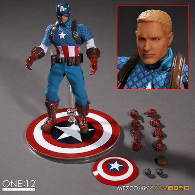Mezco 1:12 Collective Marvel Captain America Action Figure AUTHENTIC IN STOCK