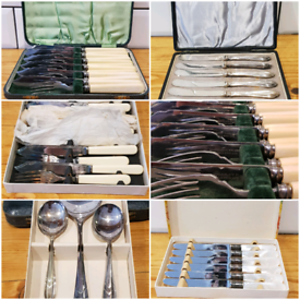 Collection of vintage silverware