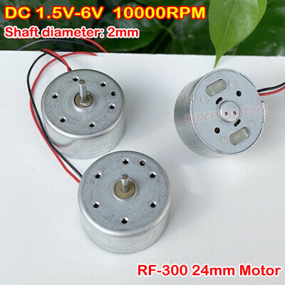 Dc 1.5v 3v 4.2v 6v 10000rpm Rf-300 Micro Mini Round 24mm Motor Diy Toy Fan Parts