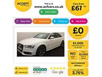White AUDI A4 SALOON 1.8 2.0 TDI Diesel BLACK EDITION FROM £67 PER WEEK!