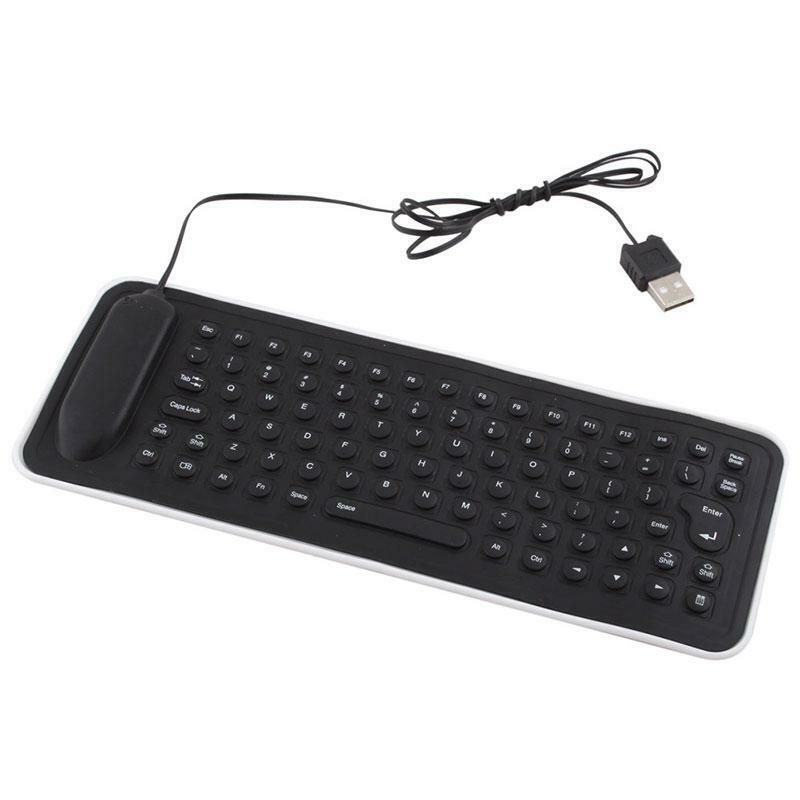 Portable Mini Flexible USB Silicone PC Keyboard Foldable for