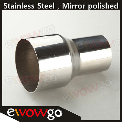 "2.5"" TO 3"" INCH WELDABLE TURBO/EXHAUST STAINLESS STEEL REDUCER ADAPTER PIPE"