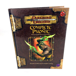 D&D Complete Psionic Book V 3.5 Dungeons & Dragons Hardcover