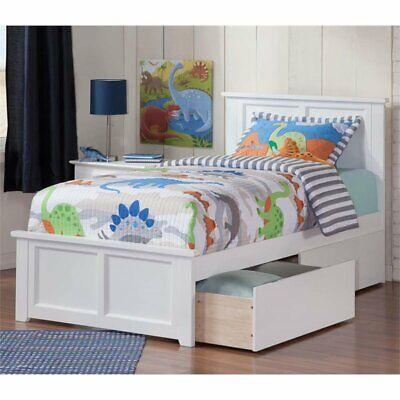 Atlantic Furniture Madison Urban Twin Storage Platform Bed i