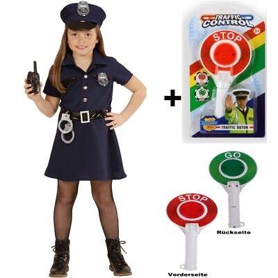 ädchen Kinder Kostüm Komplett-Set mit Kelle Stopplicht (Kostüme Mit Lichtern)