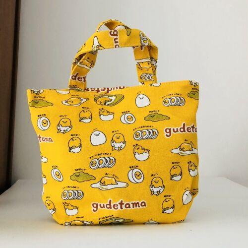Gudetama EGG YELLOW cute handbag gift lunch box bag unisex t