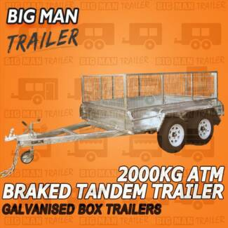 ▬8Ftx5Ft Hot Dipped Tilt Tandem Box TrailersWith Cage▬