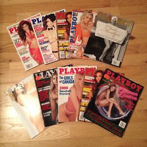 Lot de 93 revues 18+ playboy hustler Quebec Erotique penthouse