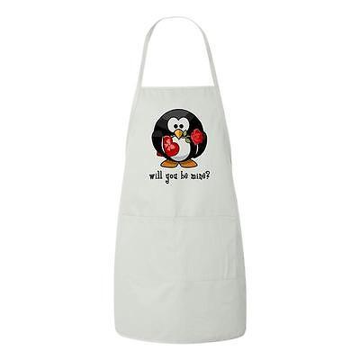 Will You Be Mine Cute Penguin Valentines Day Gift Apron Uniq