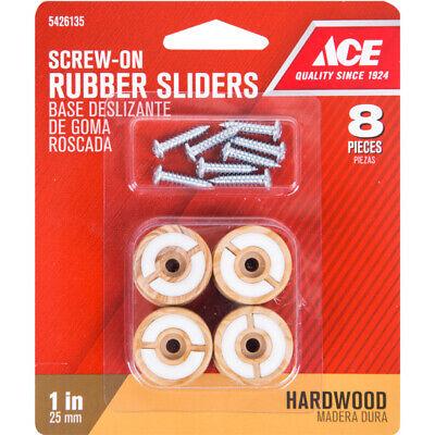 1 inch Furniture Chair Leg Screw On Rubber Sliders for Hardwood Floors