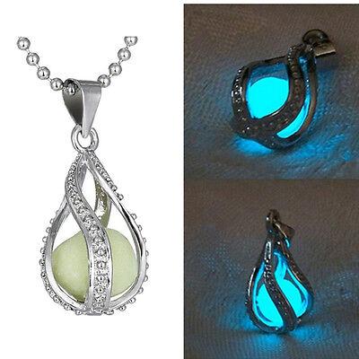 Jewellery - Fashion Women The Little Mermaid's Teardrop Glow in Dark Charm Pendant Necklace