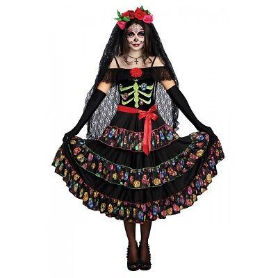 Dia de Los Muertos Costume Adult La Catrina Day of The Dead Halloween - Dias De Los Muertos Halloween Costume